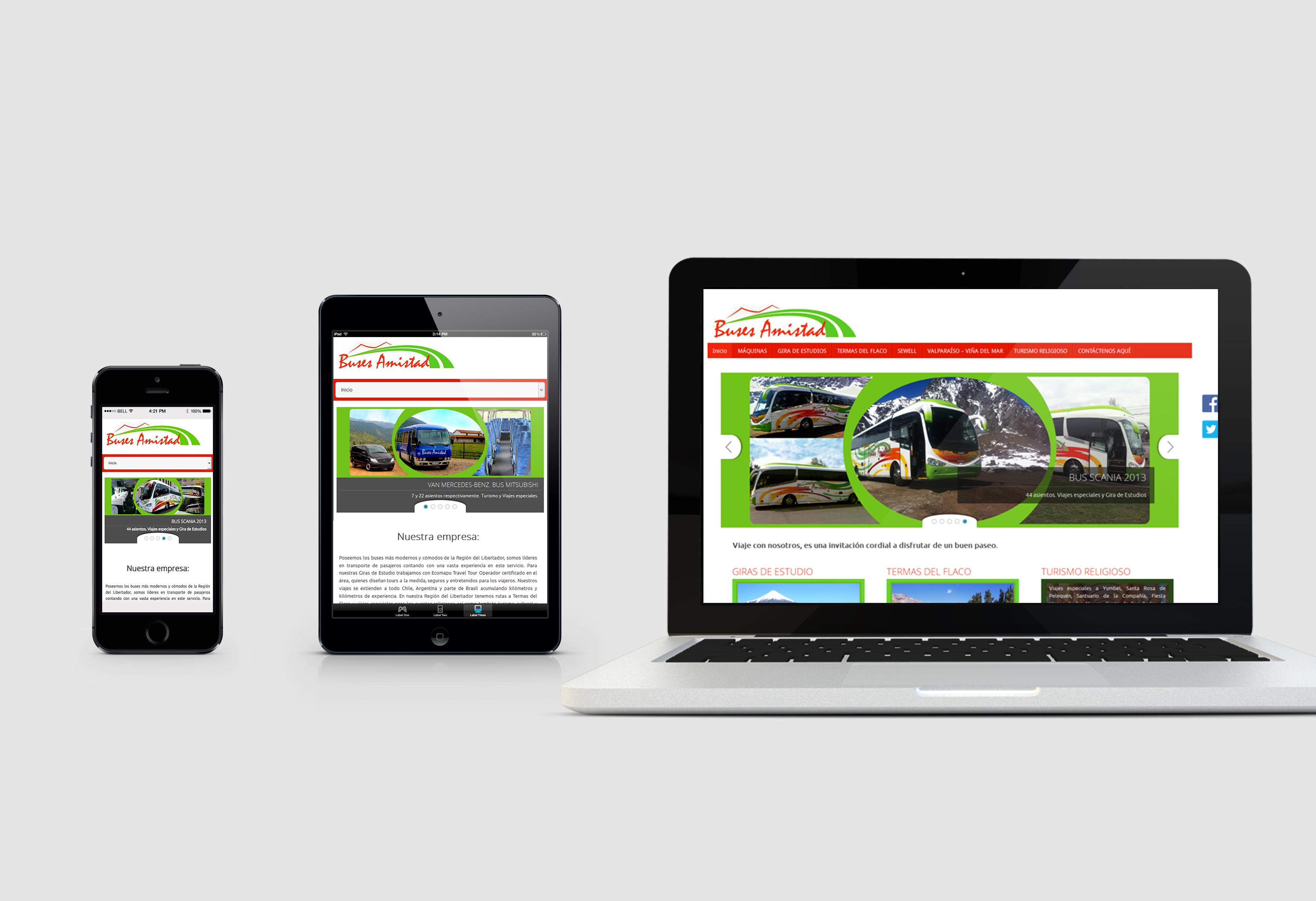 Buses Amistad Sitio web